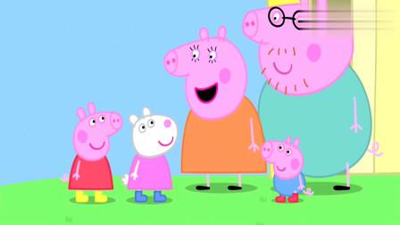小猪佩奇-过去的日子:好玩极了!佩奇发现了泥坑,开心地跳来跳去!