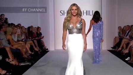 欧美超模时尚走秀:亮色与白色拼接,简约大气,真是美丽动人!