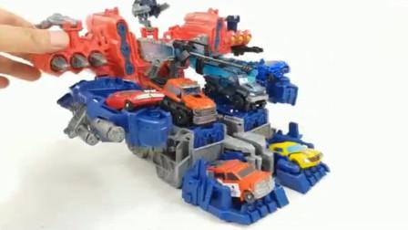 变形金刚玩具300:多款变形机器人组装成一个大型怪物机器人