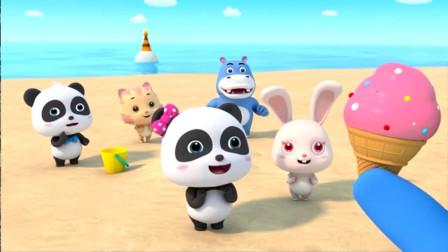 奇奇妙妙做可口的果汁和冰淇淋!宝宝巴士学ABC游戏