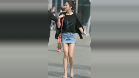 街拍:一条短裤怎么穿才好看?2米长的腿很重要