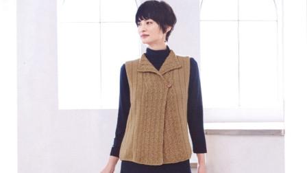 一款漂亮的门襟花样,立体的麻花,正反面花样一样,很大方毛线最新织法