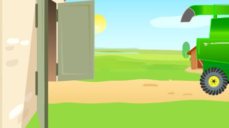 趣味益智动画片 秋天到了,开拖拉机收稻谷