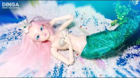 芭比娃娃被主人化妆成一条温婉动人 的美人鱼,这技术你给打几分?