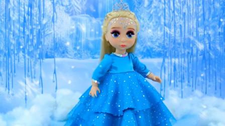 冰雪奇缘仿妆秀:洋娃娃被主人化妆成艾莎公主,看完你学会了吗?