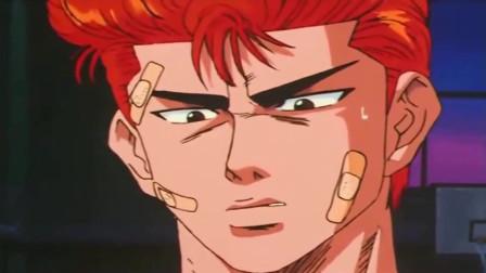 灌篮高手:这人将樱木当作流川枫,还一个劲咵他,樱木不打他才怪