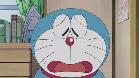 哆啦A梦:没铜锣烧的哆啦a梦快不行了,拿出集尘机,制造铜锣烧