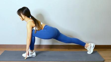 瘦腿开髋伸展脊背,四分钟下半身拉伸运动,小姐姐教你做