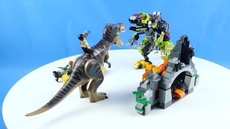 乐高搭建:乐高侏罗纪世界75938霸王龙大战机甲恐龙评测