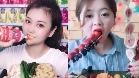 小姐姐直播吃彩色小螃蟹果冻、果蔬脆,你们喜欢吃吗?