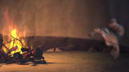冰川时代:松鼠玩聪明烤松子吃,意外却烤成爆米花,这脑子啊!