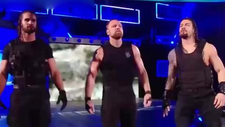 RAW:捍卫者高调做派令全体选手不悦,集体联手来夹击三兄弟.