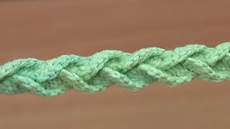 钩针绳总是那么特别,一款立体窄V带教程,很多地方用得到(上)