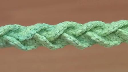 这款钩针带的颜值挺高,立体窄V带教程,喜欢的来学习吧(下)