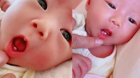 快人一步!新生儿出生自带2颗小白牙 全家都乐坏了