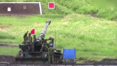 超级巨无霸,日本203㎜自行榴弹炮真实射击,响不响!