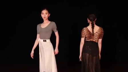 两个舞蹈老师一起斗舞,说实话我还是喜欢穿白裙的!
