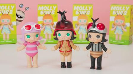 茉莉娃娃昆虫系列盲盒 Molly惊喜盒