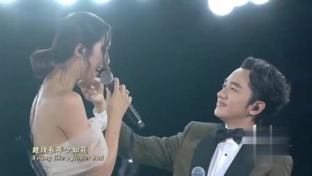 央视中秋晚会:王祖蓝李亚男深情对唱,太甜了