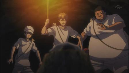 网球王子:山洞里出现一大群蝙蝠,龙马等人慌张逃命,掉进了水里