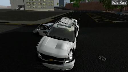 车祸模拟器:刹车失灵的汽车过红绿灯,多车连撞啊!