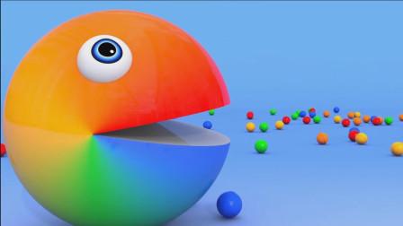 吃了彩色糖果的吃豆人是变成了七彩人了吗?吃豆人游戏