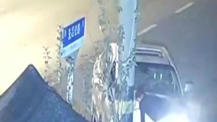 上海 男子醉驾撞上电线杆 被刑拘 新闻早报 20191117 高清