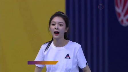 超新星全运会:女子跳高决赛,傅菁第一次起跳失误,吴宣仪超紧张