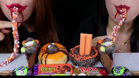 吃播挑战万圣节限定甜品:造型奇葩味道超好,女巫蛋糕你敢吃吗?