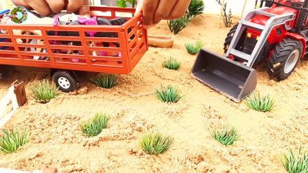 大客车小汽车玩具,工程车运输车玩具