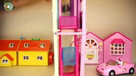 婴儿娃娃,房子,城堡和厨房玩具