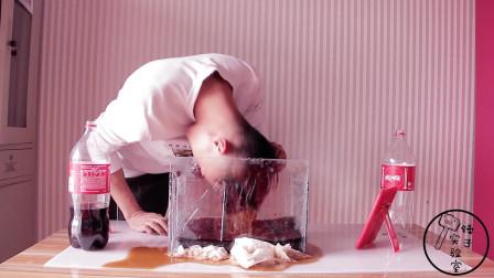 小伙用可乐洗头发,洗完后头发会变怎么样?效果他自己都难以置信