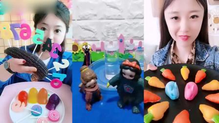 小姐姐直播吃胡萝卜、彩色数字糖,看着就过瘾,是我童年向往的生活