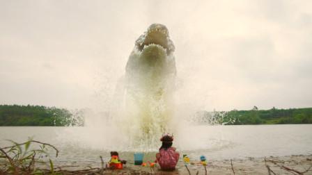 一部怪兽电影,热带雨林中鳄鱼变异成超级巨鳄,经常有人命丧口中