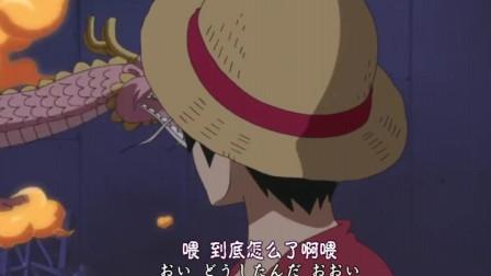 海贼:桃之助展现果实能力带着路飞飞离垃圾场,结果却饿晕又掉下去了?