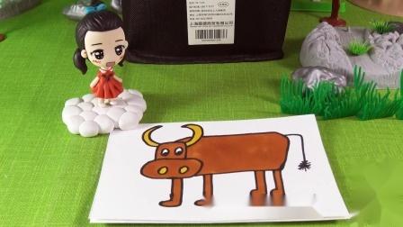 小琦简笔画 第09集 大水牛