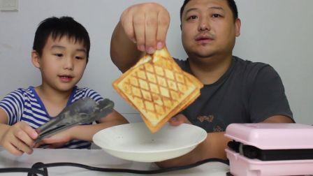 【爆浆三明治】用三明治机做出来的芝士培根面包也太好吃了吧!妈妈再也不用担心我的早饭问题了