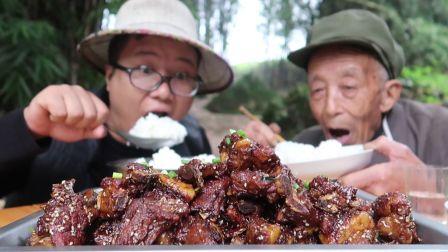 """四川农家菜""""糖醋排骨""""正宗的做法,色泽红亮,酸度适中,收藏了"""