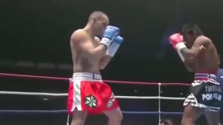 拳手跨界20秒把播求一拳击倒,播求被揍的毫无脾气心服口服,霸气