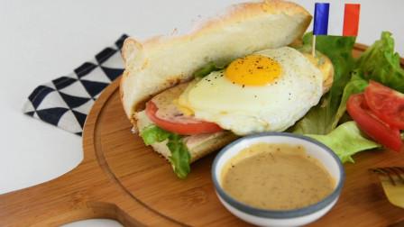 法棍三明治,自己学着做简单西餐,省钱又好吃