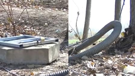 村民井中抽完水却拔不动管子检查一看里面堵了两条腿