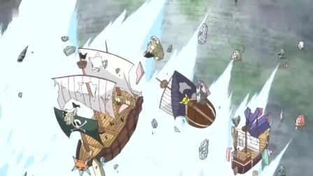海贼:大将藤虎亲自灭了一群舰队,为路飛践行