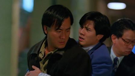 经典香港动作片,李修贤死得最惨的一次,当街被黑帮残杀