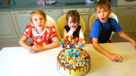 萌娃蛋糕游戏故事:小萝莉的生日蛋糕为啥有这么多气球?泪目。