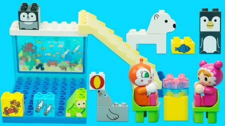 面包超人积木水族馆过家家玩具