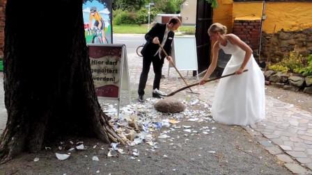 最奇葩的婚礼习俗,砸东西都是基本操作,看完感概结婚不容易