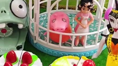 蛇精猪了猪妈妈和围裙妈妈,让她们做蛋糕,,你觉得谁做的好呢?