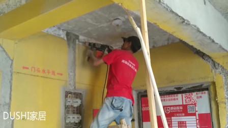 装修电线上墙开槽竖着还是横着有讲究,看看师傅现场施工就知道了