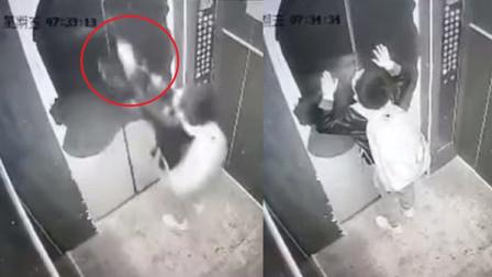 监控录像记录下惊魂一幕:熊孩子把电梯当玩具,险些造成大祸!