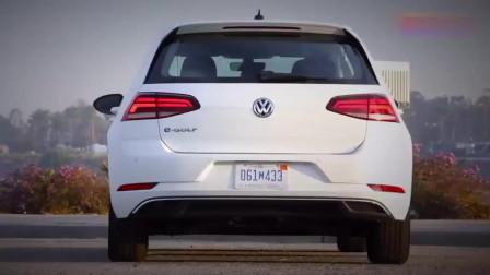 这款车外观时尚大气,实拍鉴赏大众汽车e-Golf